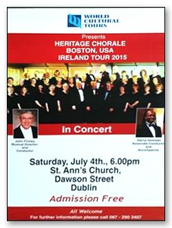 Dublin Concert Poster