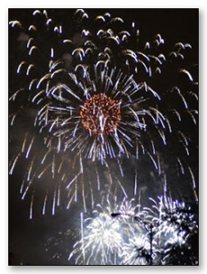 Fireworks for observance of Canada Day